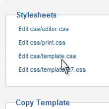 Joomla CSS File