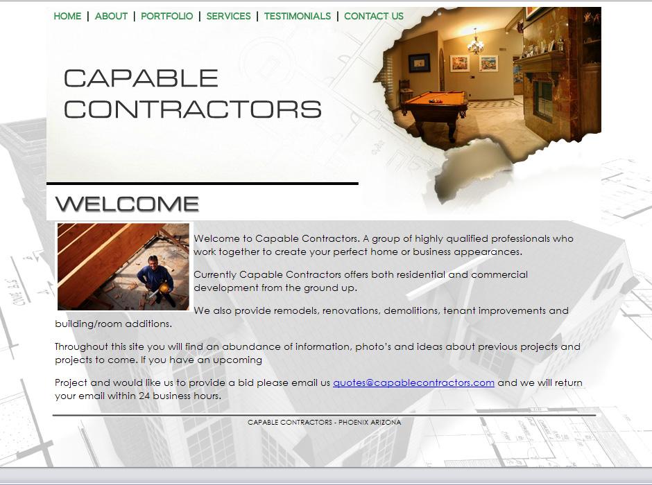 WordPress Web Designer for Contractors