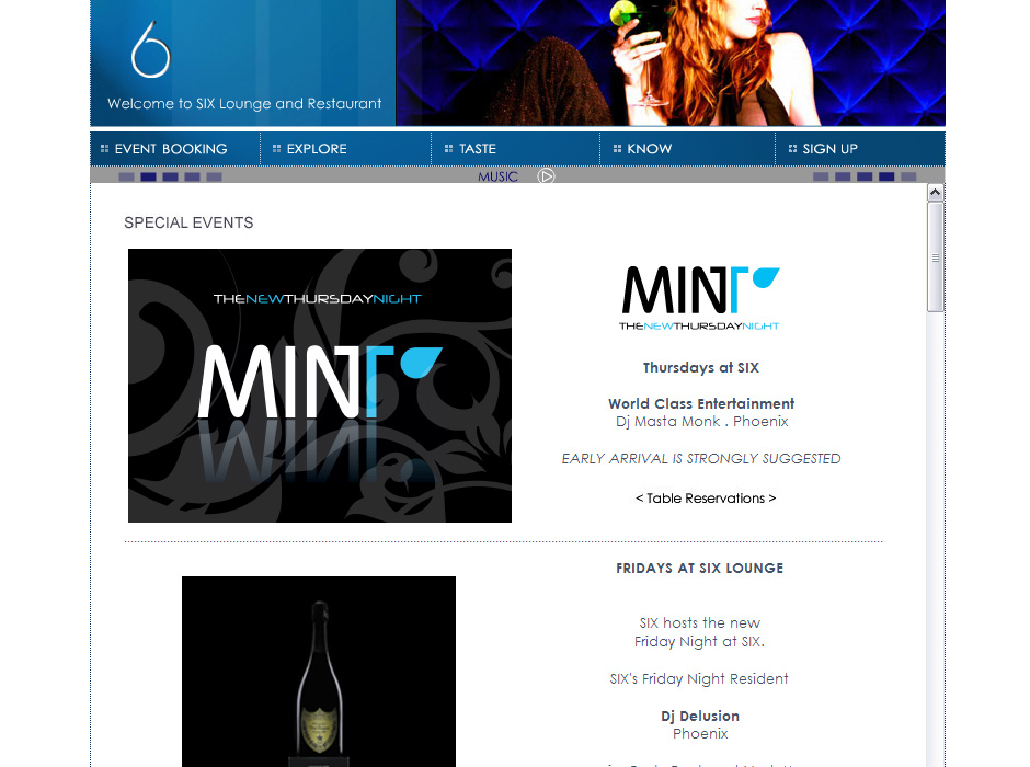 Web Designer for Night Clubs