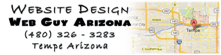 Web Guy Arizona in Tempe Arizona provides full website design and repair services